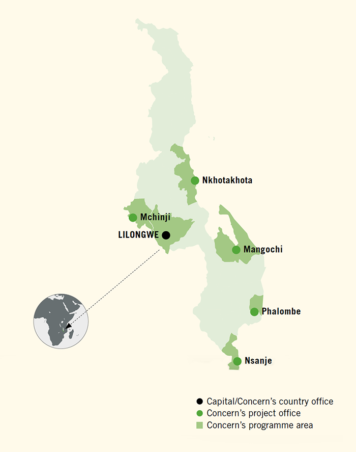 Malawi Building Resilient Systems For Food And Nutrition - Malawi map png